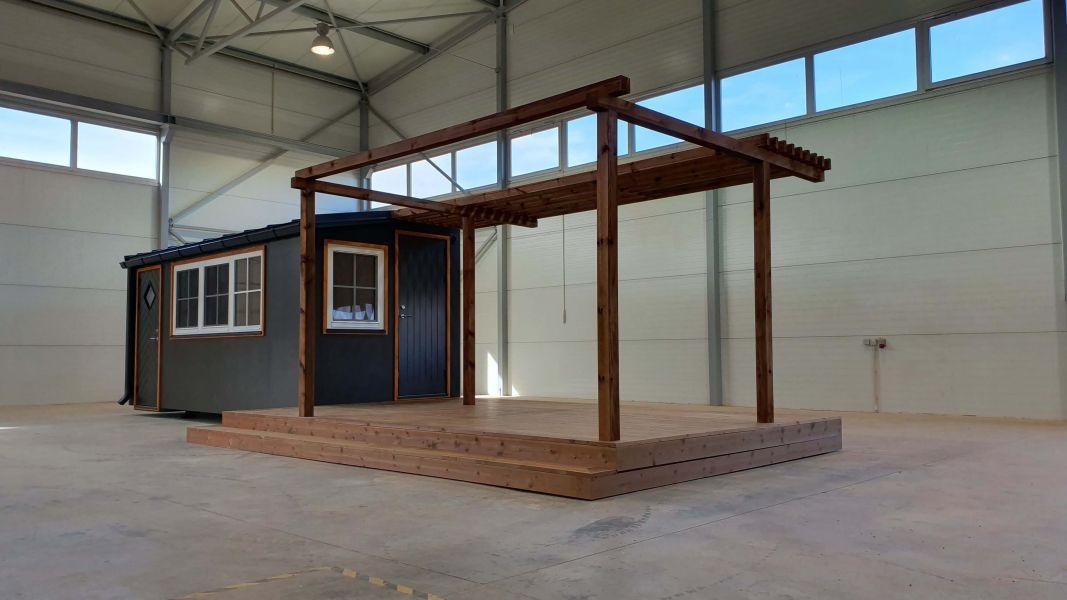 CLT väikemaja - Maja ehitus